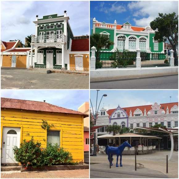 Colourful buildings in Aruba