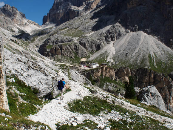 Hiking in the Dolomites Photo: Heatheronhertravels.com