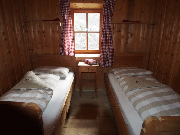 Our bedroom at Rifugio Bergamo Photo: Heatheronhertravels.com