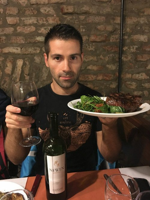 Malbec and steak Seb Photo: Heatheronhertravels.com