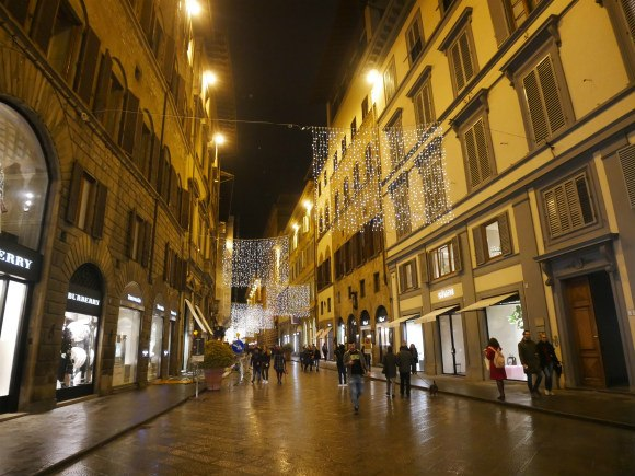 Shopping on Via Tornabuoni in Florence Photo: Heatheronhertravels.com
