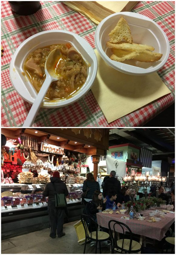 Tripe in Mercado Centrale Florence Photo: Heatheronhertravels.com