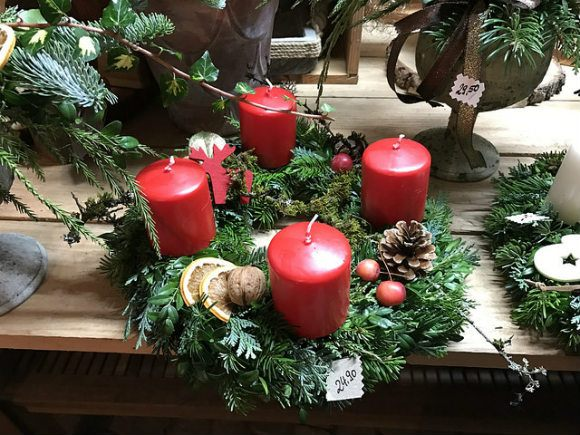 Advent Wreath in Coburg, Germany Photo: Heatheronhertravels.com