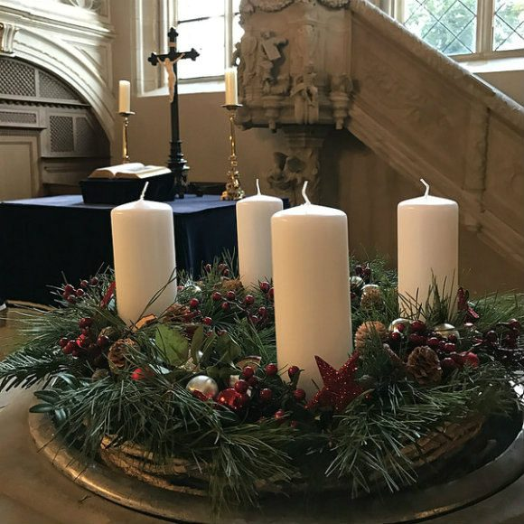Advent wreath in the chapel at Schloss Callenberg, Germany Photo: Heatheronhertravels.com