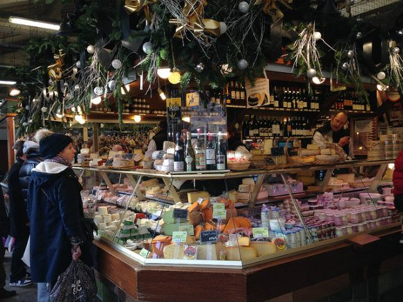 Cheese stall at covered market Marche d'Aligre, Paris Photo: Heatheronhertravels.com