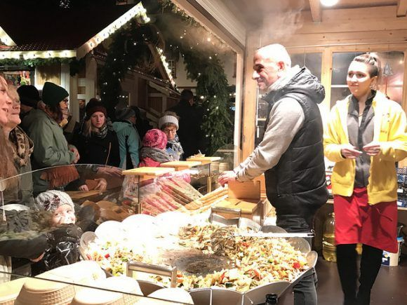 Food in the Christmas market at Coburg Photo: Heatheronhertravels.com