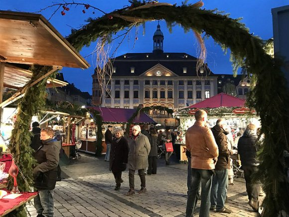 The Christmas market in Coburg, Germany Photo: Heatheronhertravels.com