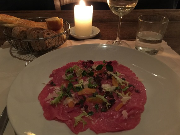 Beef carpaccio in Florence
