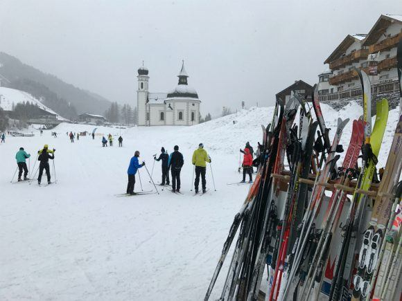 Cross-country ski lessons in Seefeld Austria Photo: Heatheronhertravels.com