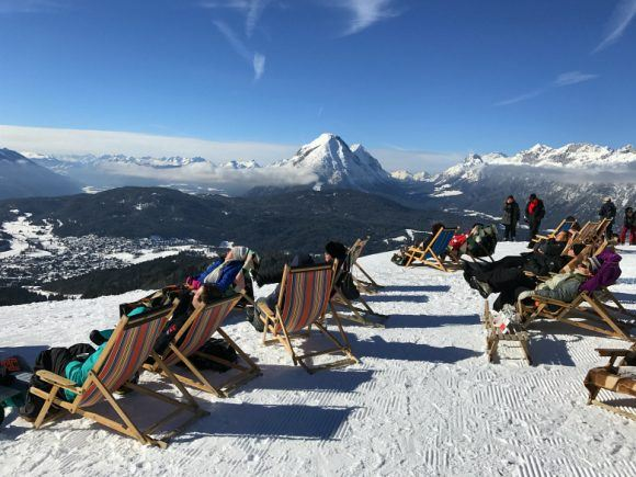 Deckchairs at Rossehutte in Seefeld