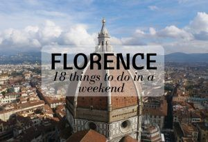 Florence – 18 things to do in a weekend – video