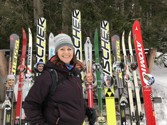 Nordic ski champions display in Seefeld