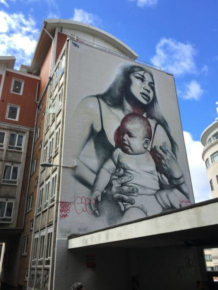 Street art on Nelson Street Photo: Heatheronhertravels.com