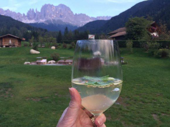 A well earned aperitif in the Dolomites
