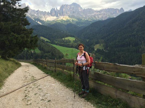 Hiking back to St Cyprian in the Dolomites