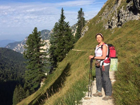 Leaving Rifugio Bergamo in South Tyrol
