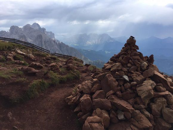 Cairn in the Dolomites