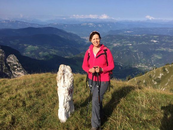 Hiking near Rifugio Bolzano in South Tyrol