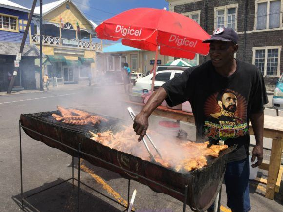 Barbecue vendors in St Kitts Photo: Heatheronhertravels.com