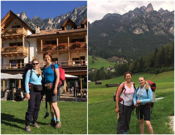 Before and after our hike in South Tyrol