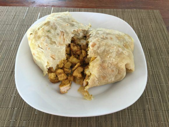 Chicken Roti on St Kitts Photo: Heatheronhertravels.com