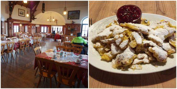 Dining at Rifugio Bolzano