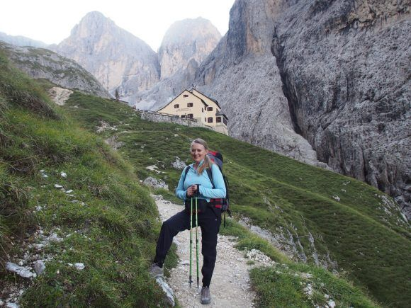 Hiking from Rifugio Bergamo in South Tyrol
