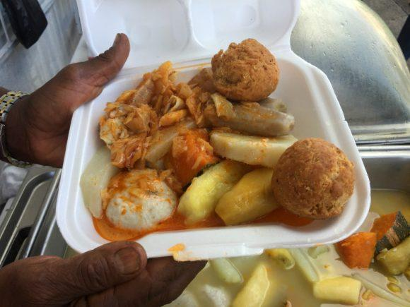 Salt fish and Johnny cakes on St Kitts Photo: Heatheronhertravels.com
