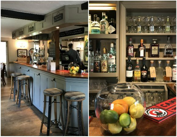 Bar at Halfway Bridge Inn in Sussex photo: Heatheronhertravels.com