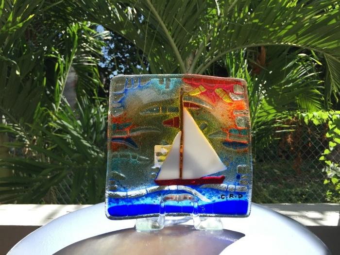 Art glass on St Kitts Photo: Heatheronhertravels.com