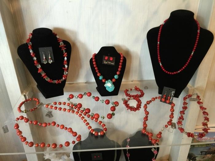 Coral Jewellery on St Kitts Photo: Heatheronhertravels.com