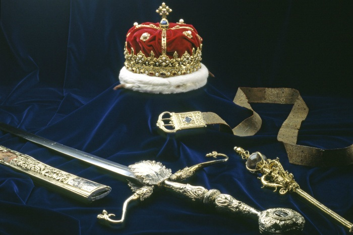 The Crown Jewels of Scotland Photo: Edinburgh Castle website