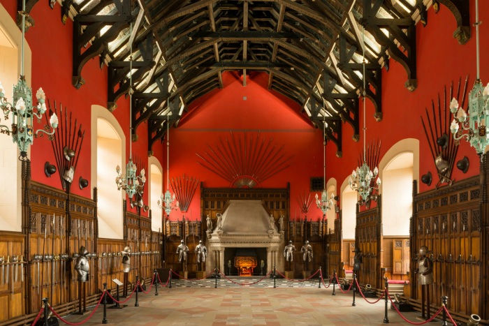 The Great Hall in Edinburgh Castle photo: Edinburgh Castle website