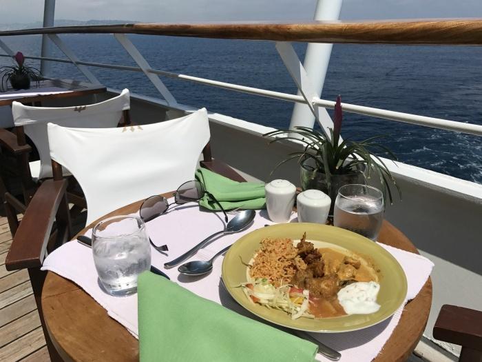 Lunch on board Aegean Odyssey Photo: Heatheronhertravels.com
