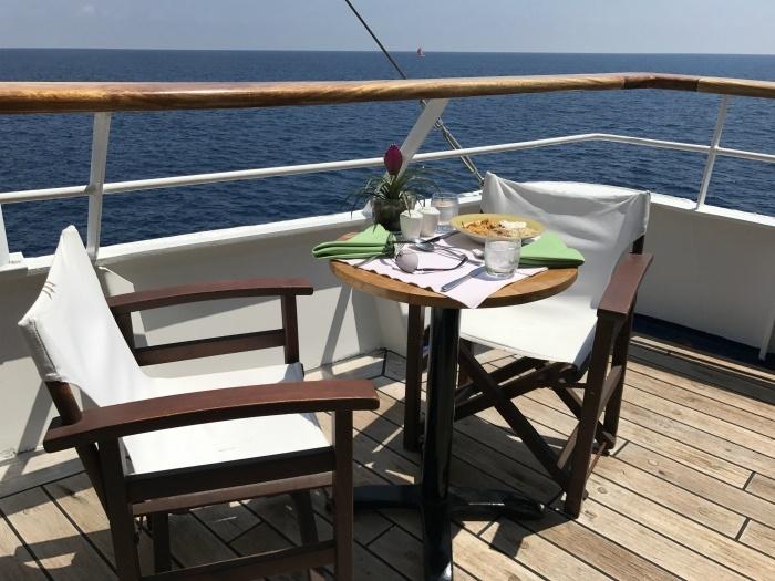 Lunch on board Aegean Odyssey