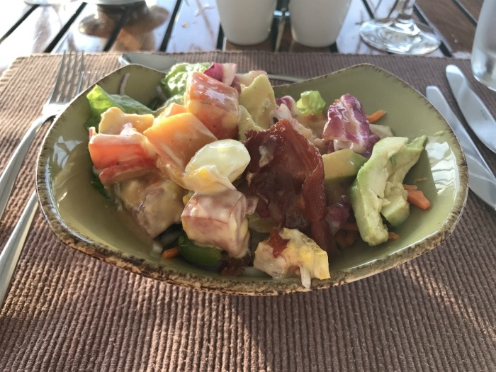 Salad for lunch on board Aegean Odyssey
