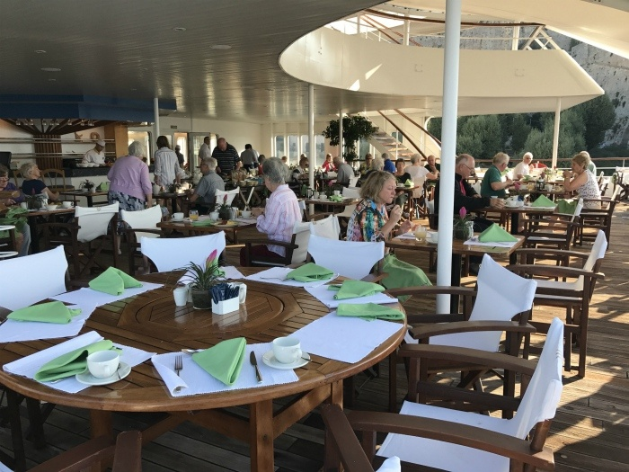 Terrace restaurant on Aegean Odyssey