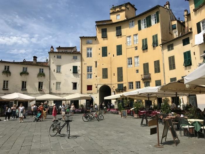 The Roman ampitheatre in Lucca Photo: Heatheronhertravels.com
