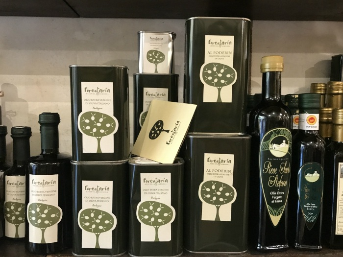 Tuscan olive oil in Lucca Photo: Heatheronhertravels.com
