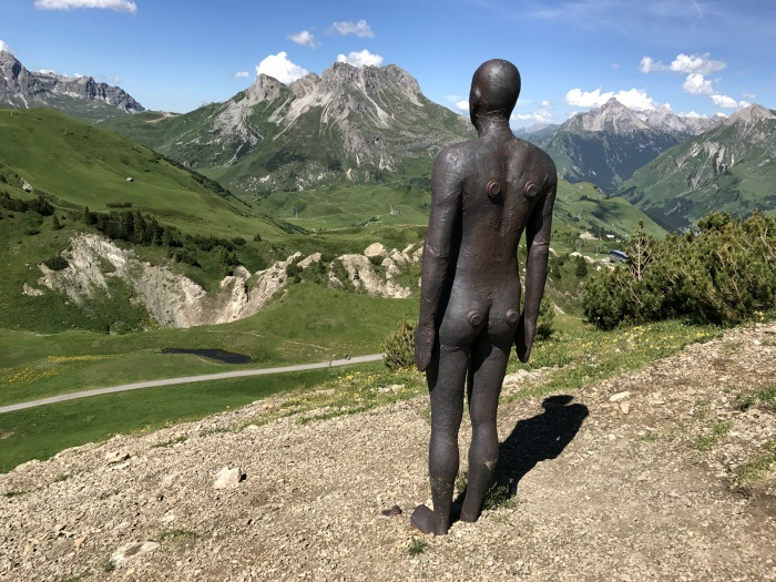 Antony Gormley in Lech, Vorarlberg Photo: Heatheronhertravels.com