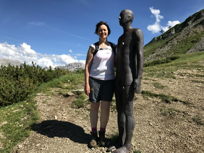 Antony Gormley sculpture near Lech Photo: Heatheronhertravels.com