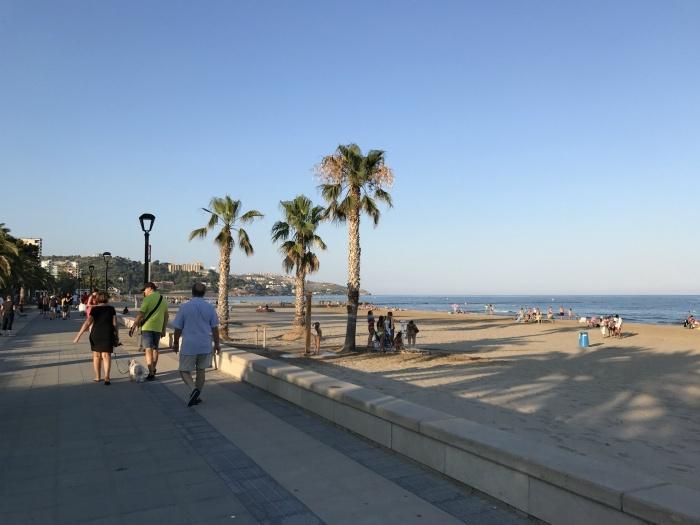 Beach promenade at Benicassim