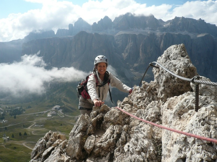 Climbing a Via Ferrata in South Tyrol