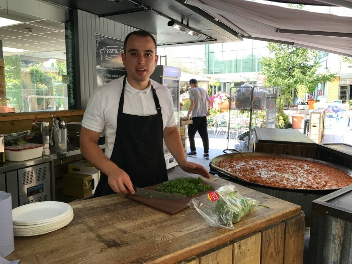 Festival street kitchen in Basingstoke Photo: Heatheronhertravels.com