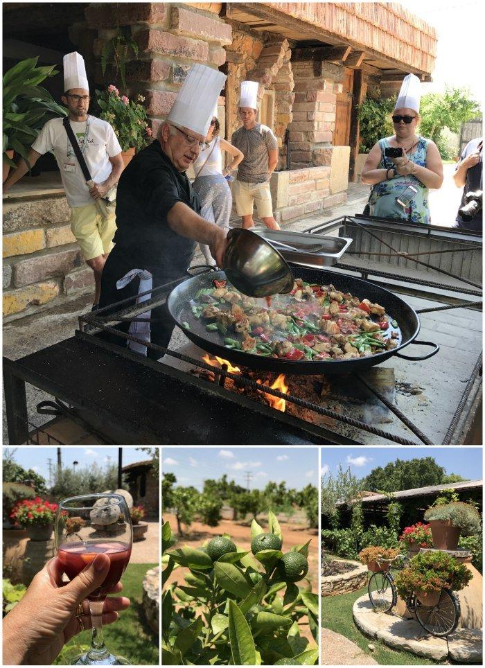 Making Paella at Mas Doblons