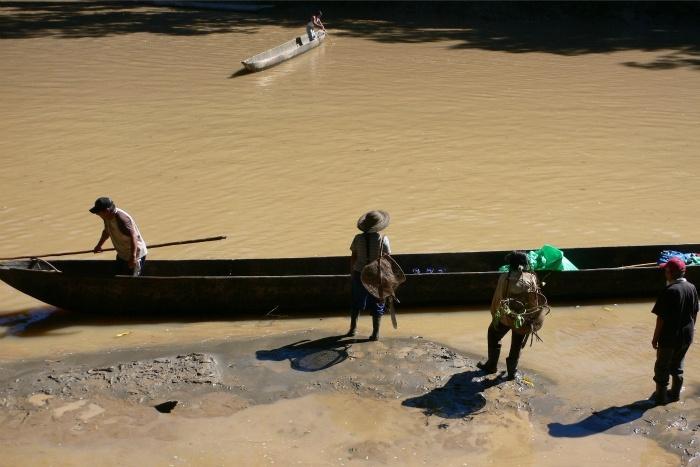 Canoe trip in Ecuador