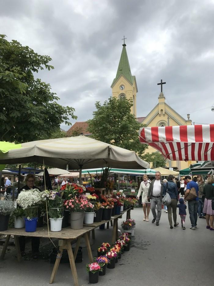 Farmers market at Kaiser Josef Platz in Graz Photo: Heatheronhertravels.com