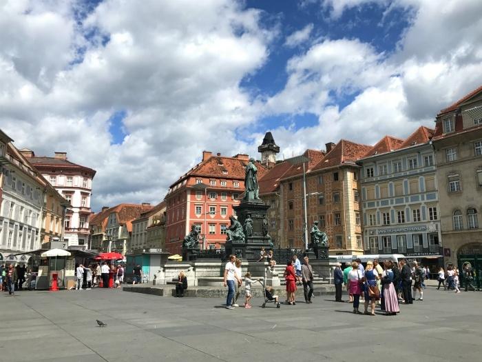 Hauptplatz in Graz Photo: Heatheronhertravels.com