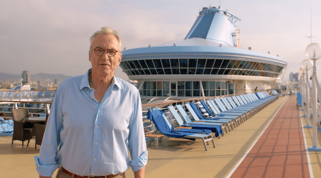 Larry Lamb with Thomson cruise