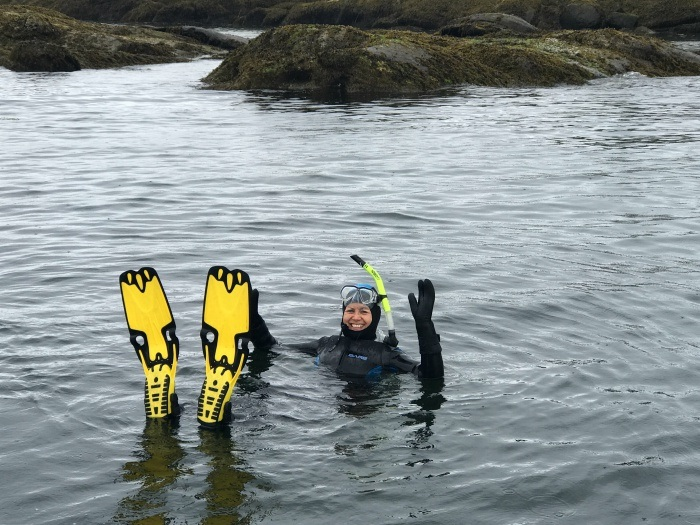 Snorkeling with seals in Nanaimo Photo: Heatheronhertravels.com
